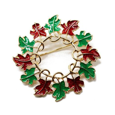 Red green drip flower garland pin brooch classic brooch scarves coat pin NHOM174118's discount tags