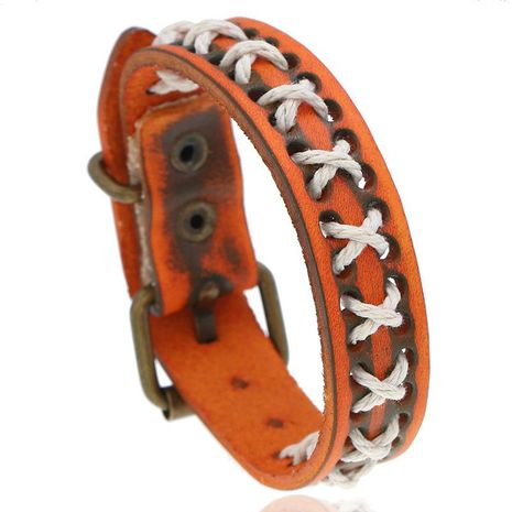 New woven retro leather bracelet men's jewelry simple leather bracelet NHPK173900's discount tags