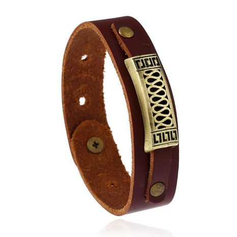Leather bracelet vintage leather bracelet NHPK173902's discount tags