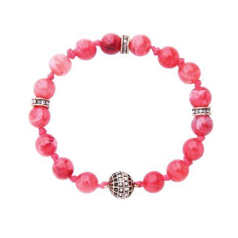 Bracelet ladies simple agate red beaded retro rhinestone inlaid magnet buckle bracelet NHQD174044's discount tags