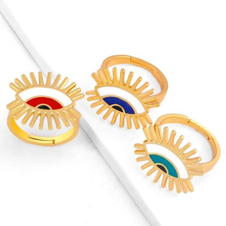 Anneau pour les yeux ouverture bague réglable femelle plaqué or bijoux à la main NHAS173977's discount tags