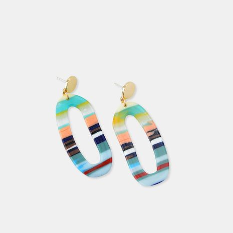 S925 Silver Bohemian National Wind Acrylic Plate Earrings Women NHQS173985's discount tags