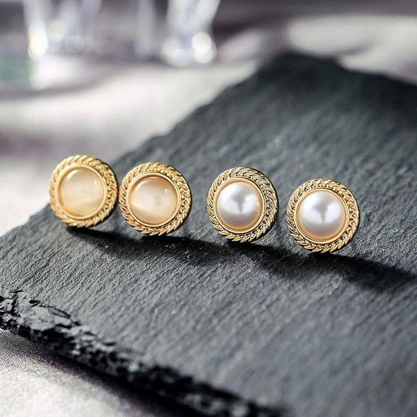 Small wheat earrings earrings fashion simple rounded opal earrings female pearl earrings NHQD174016