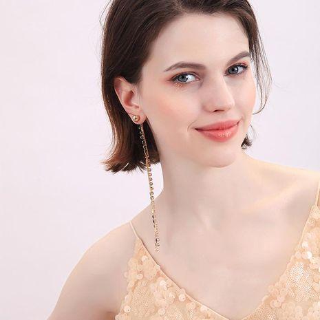 Crystal diamond earrings earrings female T-stage catwalk earrings NHQD174027's discount tags