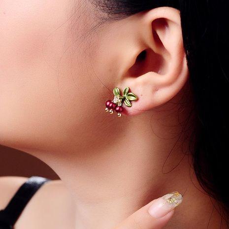 Creative Acrylic Bead Earrings New Simple Leaf Stud Earrings NHQD174028's discount tags