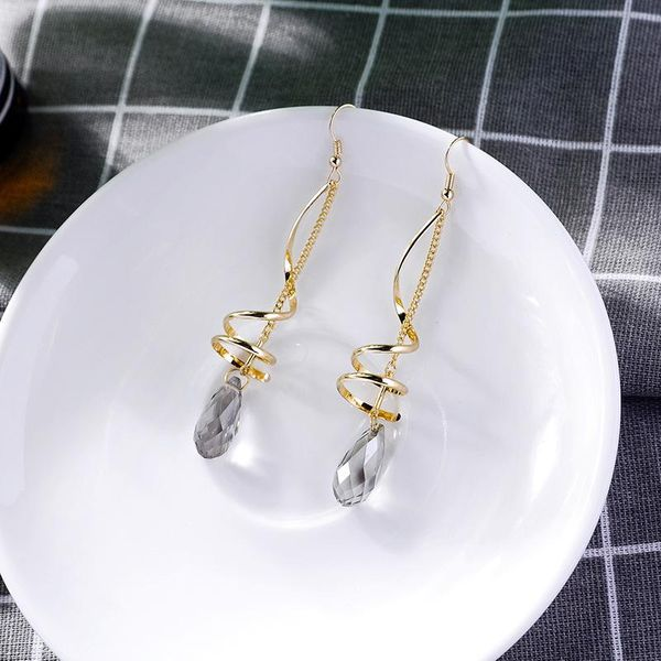 Long crystal earrings earrings female drop earrings NHQD174054
