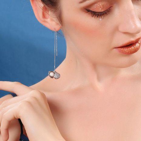 S925 Sterling Silver Stud Earrings Earrings Shell Pearl Earrings NHQD174063's discount tags