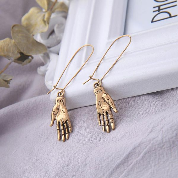 Palm earrings fashion long earrings vintage earrings NHQD174065