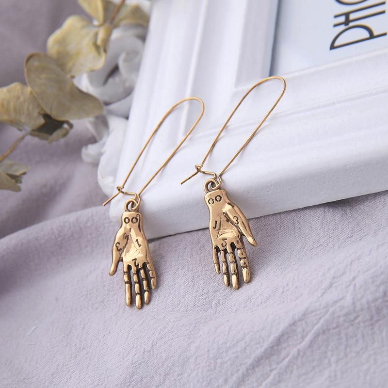 Palm earrings fashion long earrings vintage earrings NHQD174065