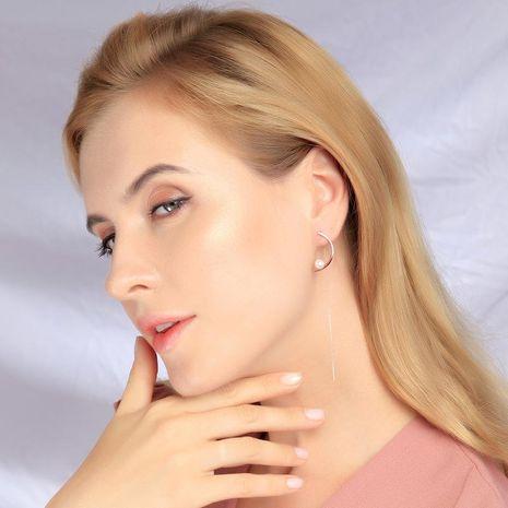 925 sterling silver earrings new tassel earrings female long pearl earrings NHQD174069's discount tags