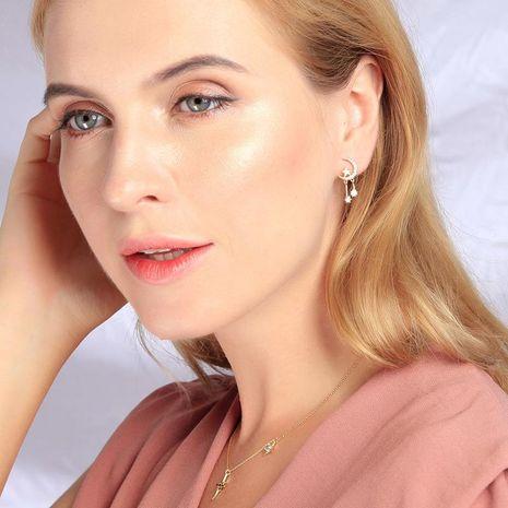Earrings Fashion Star Moon Stud Earrings New 925 Sterling Silver Stud Earrings NHQD174072's discount tags