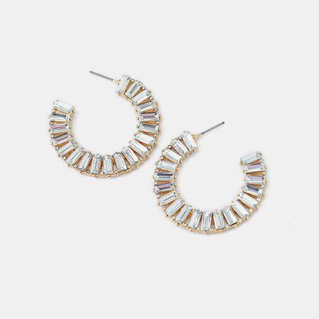 Earrings full of diamonds luxury crystal C-shaped rhinestone jewelry female NHQS174003's discount tags