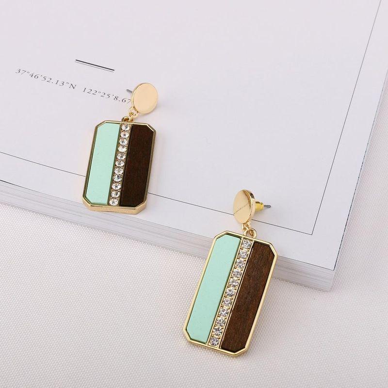Vintage earrings new wooden earrings simple earrings NHQS174009