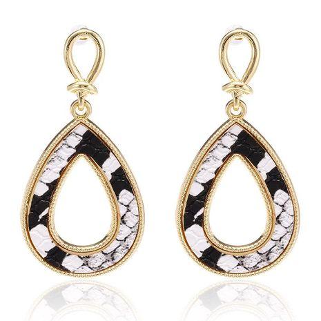 New earrings fashion retro creative snake-shaped drop-shaped hollow earrings NHPF173964's discount tags