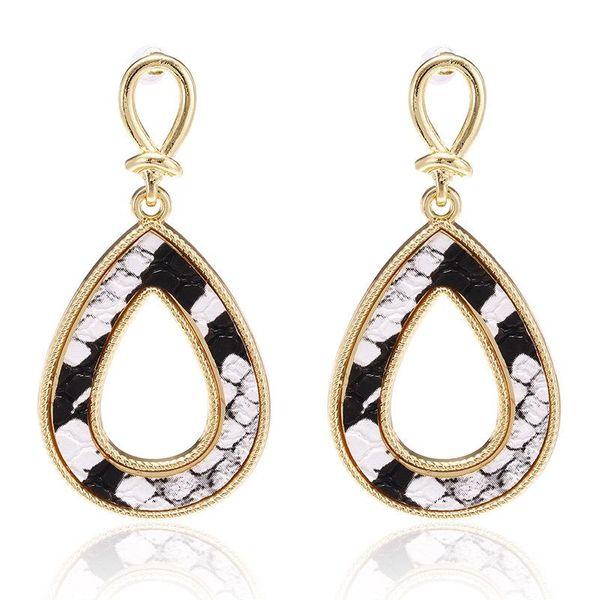 New earrings fashion retro creative snake-shaped drop-shaped hollow earrings NHPF173964