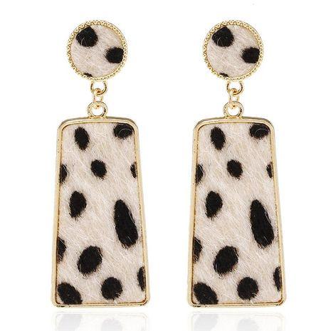New fashion creative suede leopard geometric long earrings simple earrings NHPF173975's discount tags