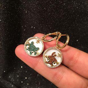 Fashion creative shell cartoon frog bird earrings star circle earrings NHWK173850's discount tags