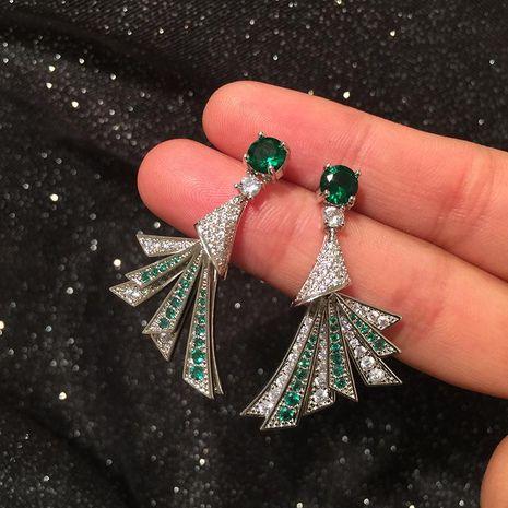 Scalloped earrings set with zircon S925 silver earrings NHWK173868's discount tags