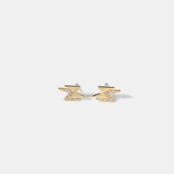 Pendientes de micro-set de circón relámpago de moda simple exquisito pendientes NHQS173992