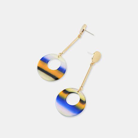 Stud Earrings Female S925 Silver Acrylic Plate Bohemian Advanced National Wind Long Earrings NHQS174014's discount tags