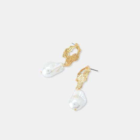 Stud Earrings S925 Silver Fashion Geometric Ethnic Pearl Earrings NHQS174013's discount tags
