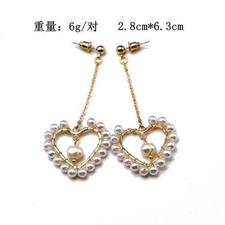 Earrings earrings heart-shaped hollow pearl pendant 925 silver needle earrings earrings NHOM174125's discount tags