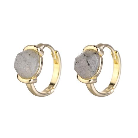 Jewelry earrings copper fittings natural cut stone female models earrings new NHLU174081's discount tags