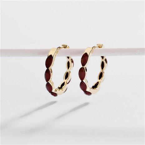Earrings copper accessories can open the horse eye female earrings new ear clip NHLU174086's discount tags