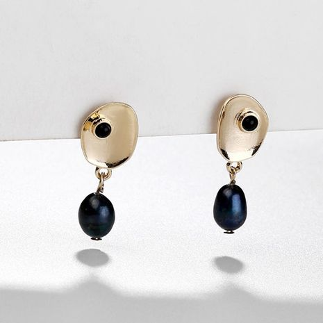 Earrings jewelry alloy natural shell pearl pendant female earrings new NHLU174099's discount tags