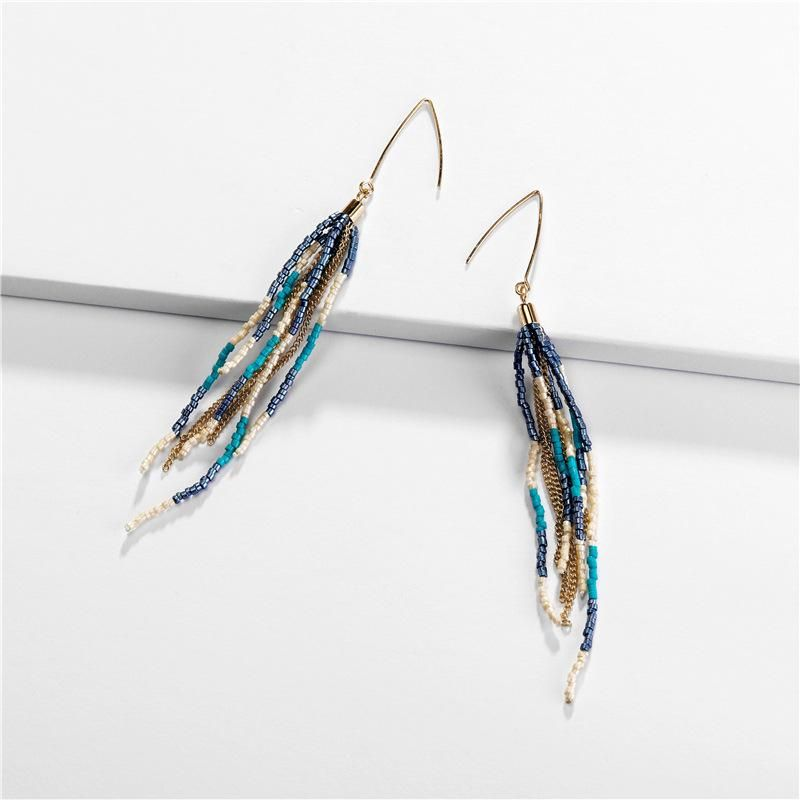 Earrings jewelry color rice beads multi-layer chain women's earrings new earrings NHLU174102
