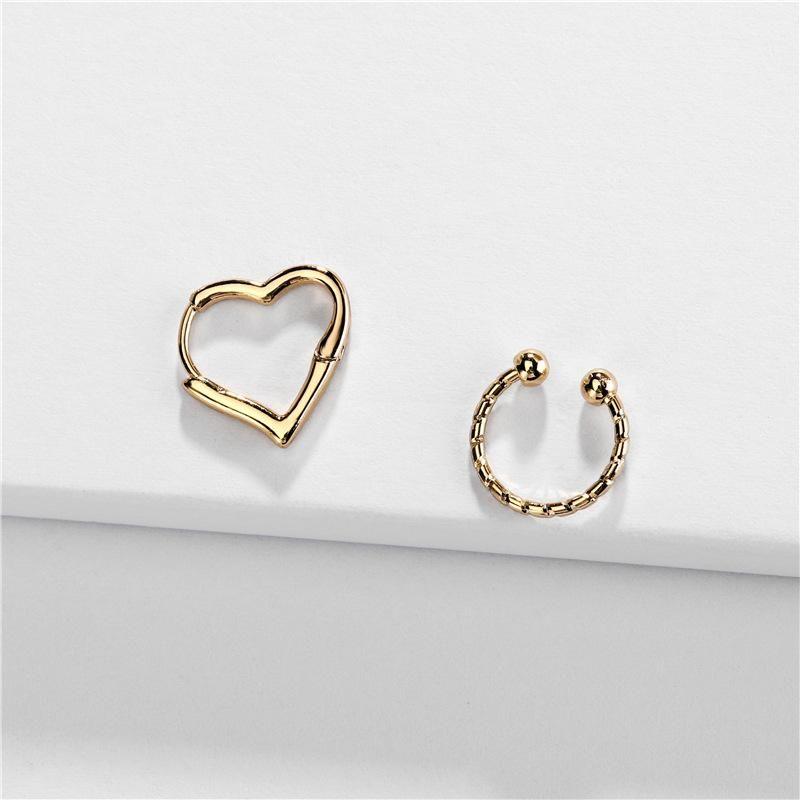 Earrings jewelry copper accessories heart-shaped adjustable female ear bone clip new NHLU174104