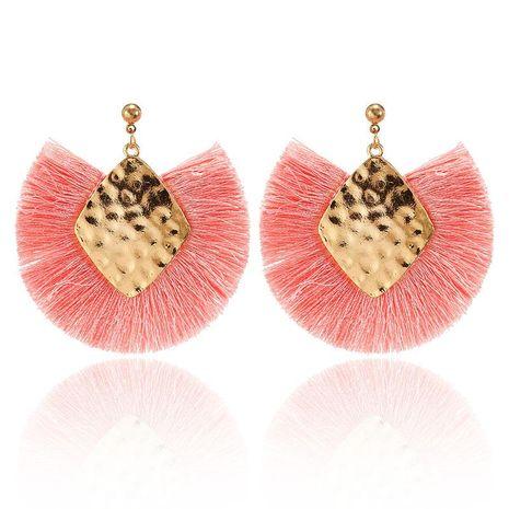 Earrings Bohemian Women's Diamond Metal Sequins Line Ear Tassel Earrings NHPF173976's discount tags