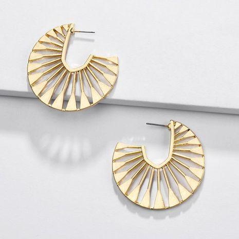 Jewelry earrings alloy hollow fan-shaped female earrings new NHLU174080's discount tags