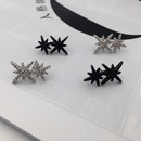 S925 silver needle double rice word eightpointed star stud earrings crystal diamond double meteor earrings earrings NHWK173880