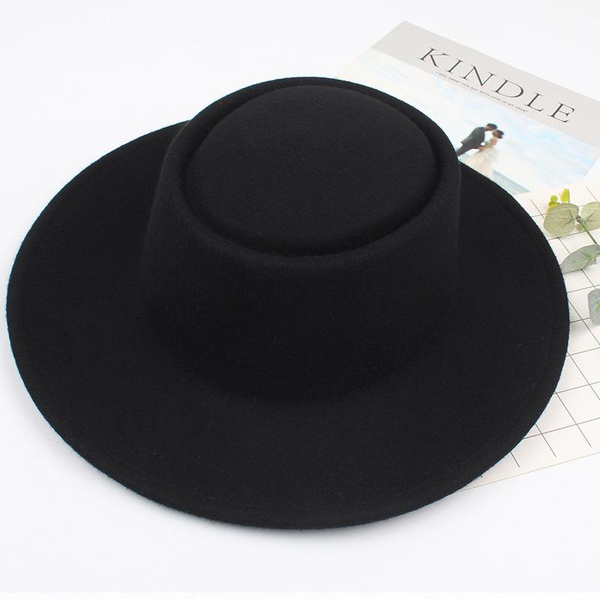 Retro solid color simple wild wool hat NHXO156079
