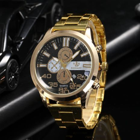 Fashion three-eye alloy steel belt watch NHHK156081's discount tags