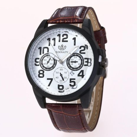 Fashion fake three-eye classic digital quartz watch NHHK156082's discount tags