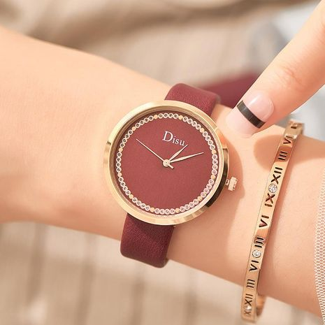 Fashion rhinestone small fresh watch NHSY156099's discount tags