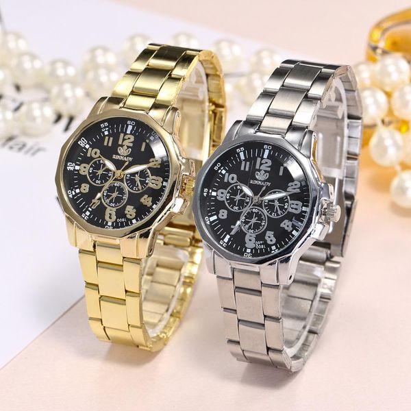 Classic double digital scale alloy quartz watch NHHK156111