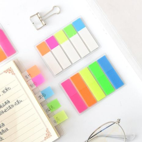 Korea stationery creative fluorescent classification index stickers NHHE156120's discount tags
