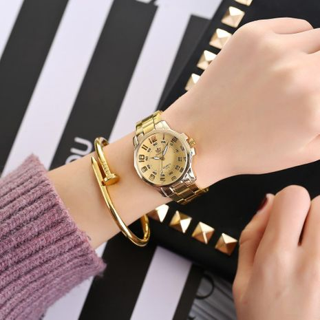 Fashion convex glass digital steel with double scale quartz watch NHHK156121's discount tags