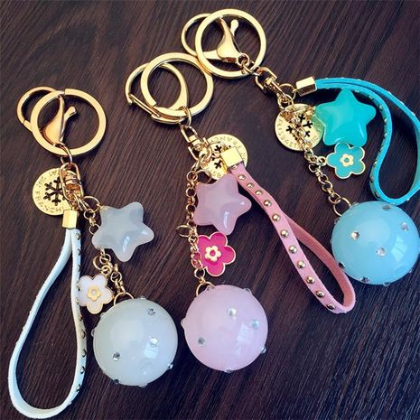 Korean version of candy color jelly five-pointed star keychain NHCB156123's discount tags