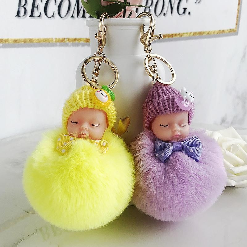 Cartoon doll cute winter sleeping doll keychain NHCB156150