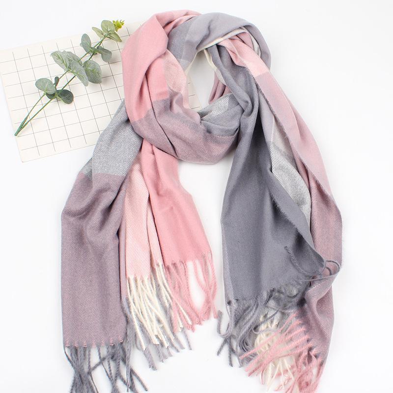 Fashion wild British shawl dual-use cashmere plaid scarf NHXO156163