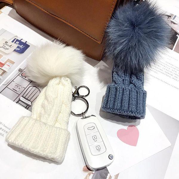 Stylish cute knitted wool ball hat NHCB156185