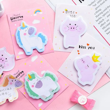 Cute cartoon girl powder pig sticky note NHHE156192's discount tags