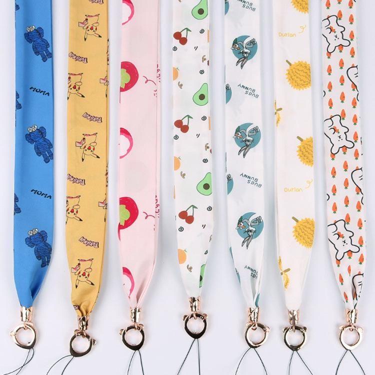 Cartoon wide scarf silk lanyard detachable portable hanging neck NHJP156225