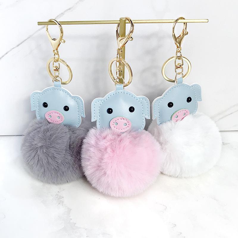 Cute piglet keychain pendant NHCB156233