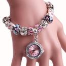 Fashion Beaded Artificial Gemstone Bracelet Watch NHMM156091
