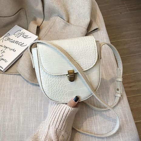 Fashion simple crocodile crossbody bag NHTC156277's discount tags